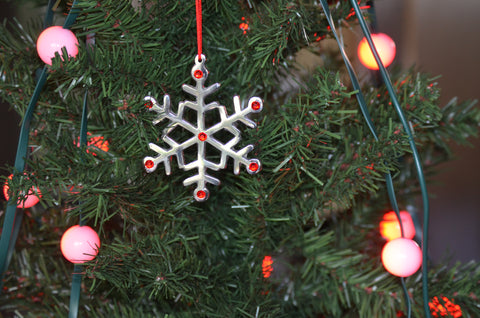 Snowflake Christmas Tree Ornament Decorations Set of 8 - Vibhsa