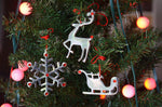 Sleigh Christmas Tree Ornament Decorations Set of 8 - Vibhsa