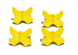 Vibhsa Butterfly Yellow Napkin Rings Set of 4