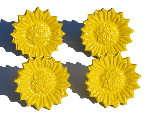 Vibhsa Sunflower Yellow Napkin Rings Set of 4