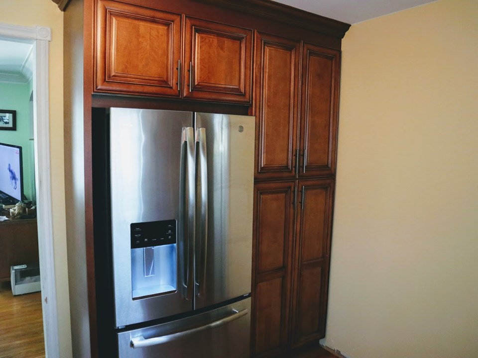 kitchen Cabinets Around Fridge