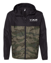 Load image into Gallery viewer, HEX HEAD Windbreaker Jacket Black/Camo