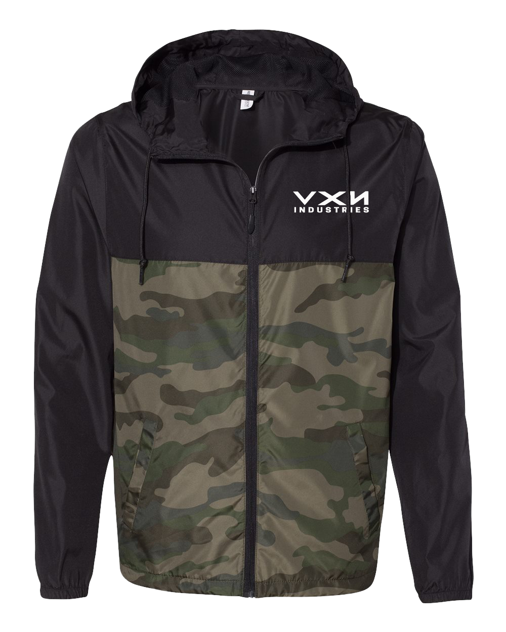 HEX HEAD Windbreaker Jacket Black/Camo