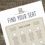 Wedding Seating Plan
