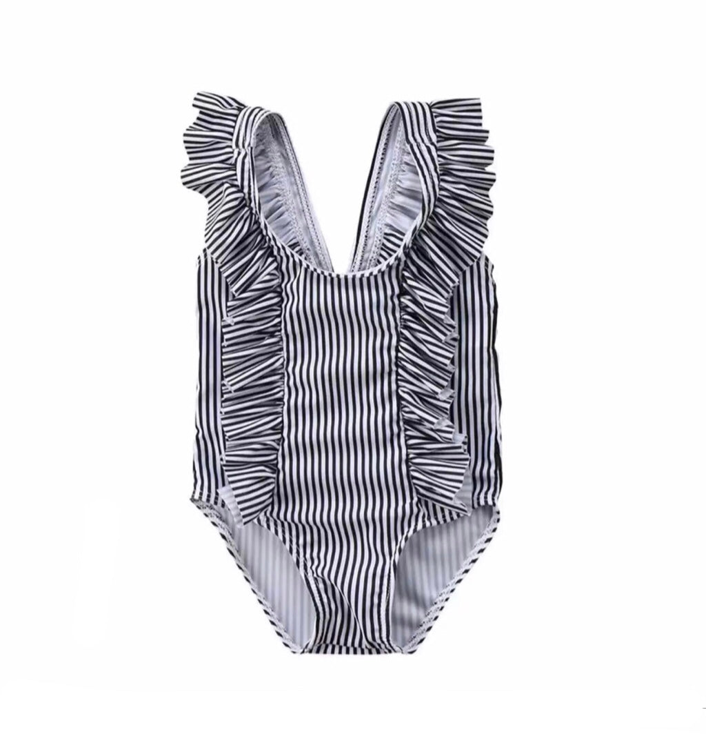 Black Striped One-Piece <br> COMING SOON