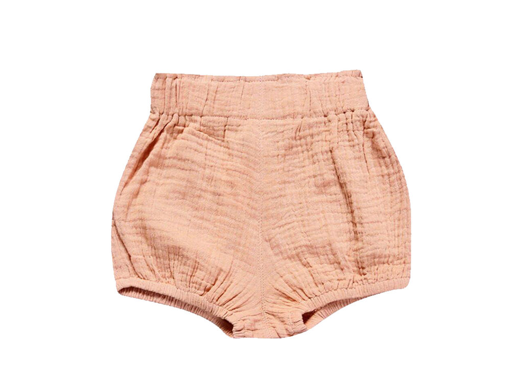 Peach Linen Shorties