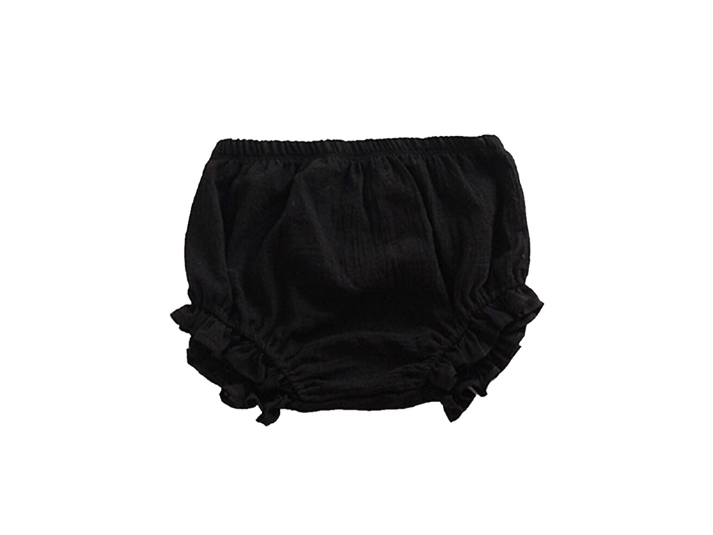 Black Ruffle Bloomers