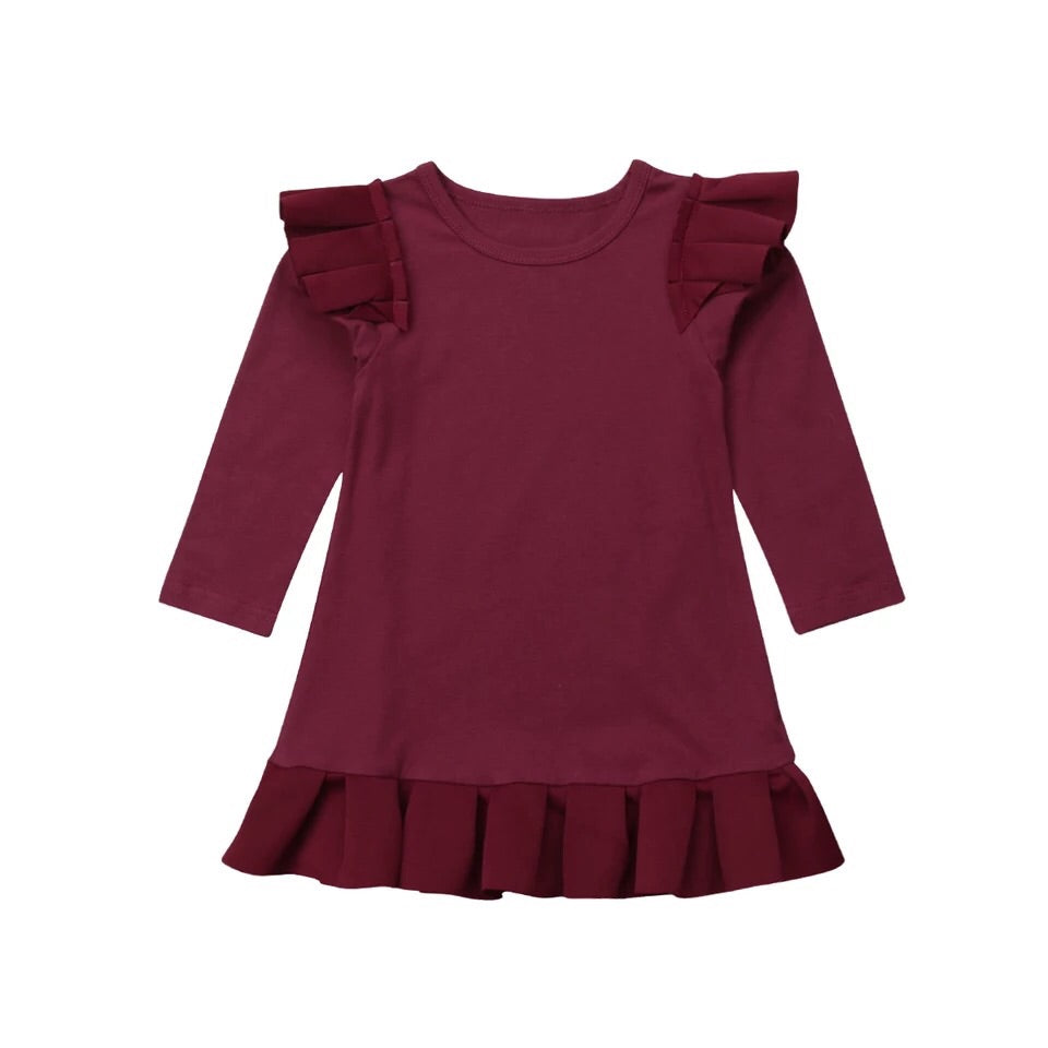 Cranberry Flutter Dress