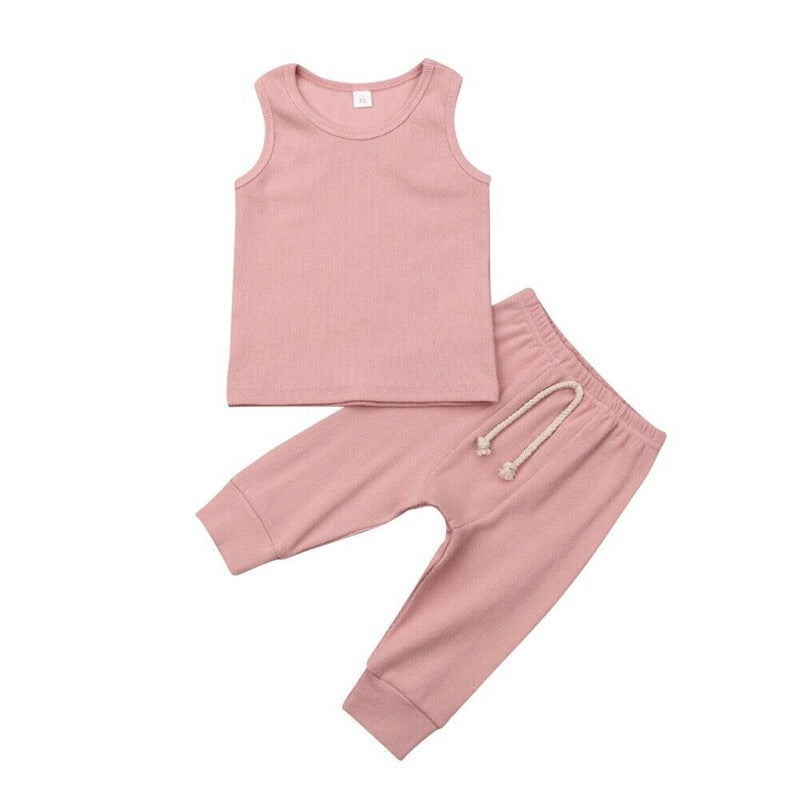 Powder Pink Basic Two Piece