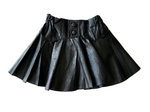 Pleated Leather Mini