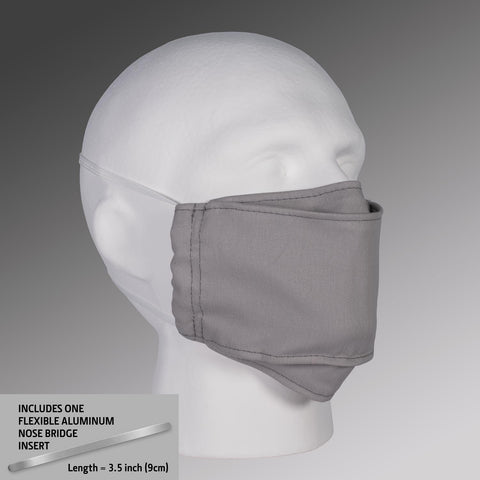 Filter Pocket Face Mask - Gray with Straps