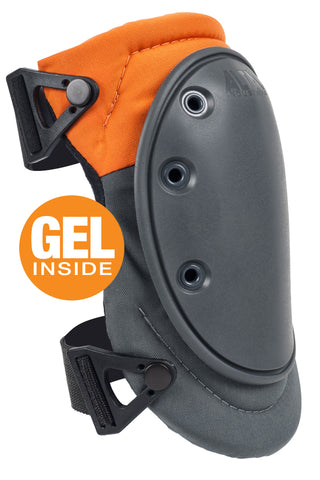AltaFLEX™ GEL INSERT Industrial Knee Pads - Orange & Gray