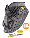 STABILIZER KNEE PAD with VIBRAM® RUBBER CAP KEEPS YOU LEVEL ON THE ROOF AND ANY UNEVEN WORK SURFACE