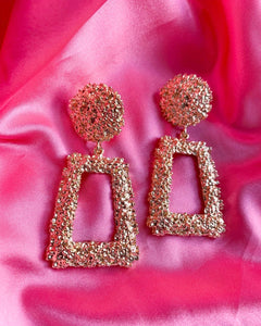 Gold Door Knocker Earrings