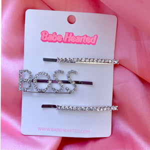 """Bo$$"" Hair Pin Set"