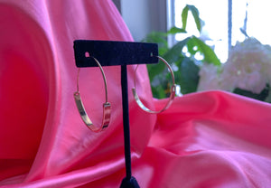 Small Gold Wide Hoops
