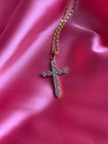 """Hussle"" Iced Cross"