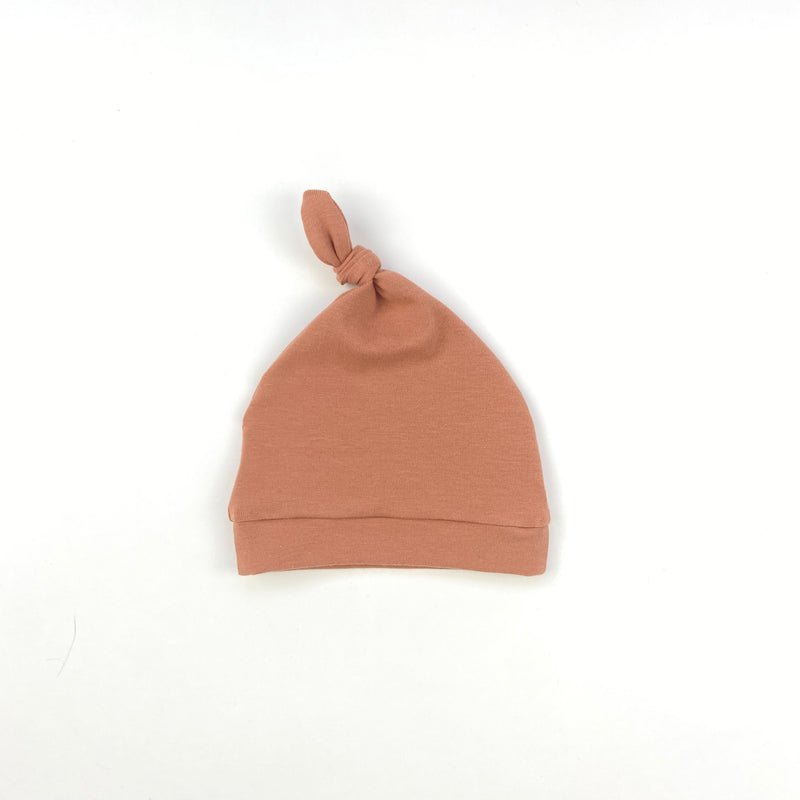 Dusty Terracotta Knotted Hat