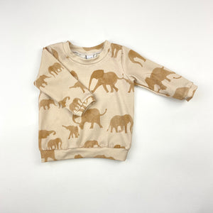 Elephant Herd Long Sleeve T-Shirt
