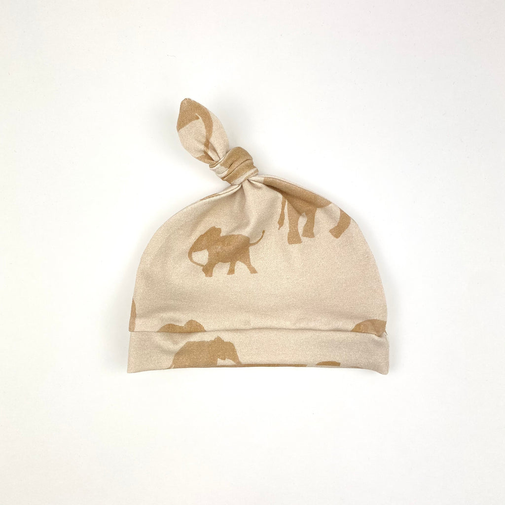 Elephant Herd Knotted Hat