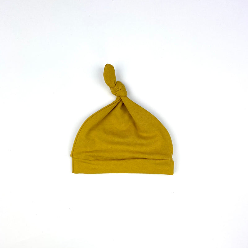 Mustard Knotted Hat