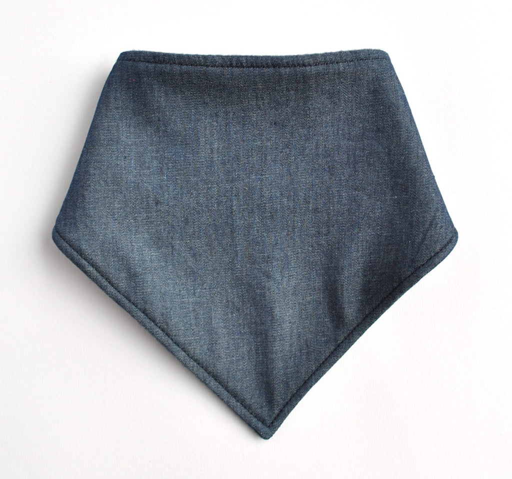 Dark Denim Bandana Bib