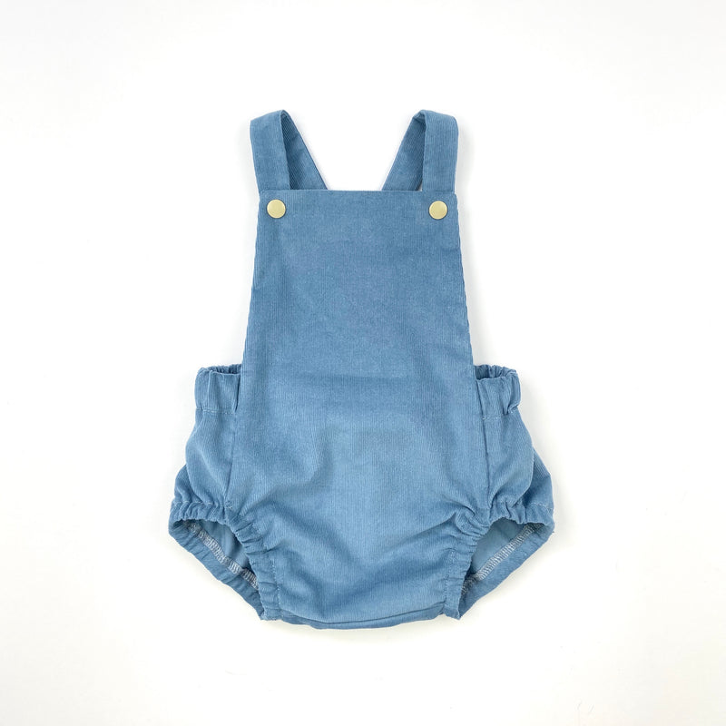 Blueberry Baby Needlecord Short Romper