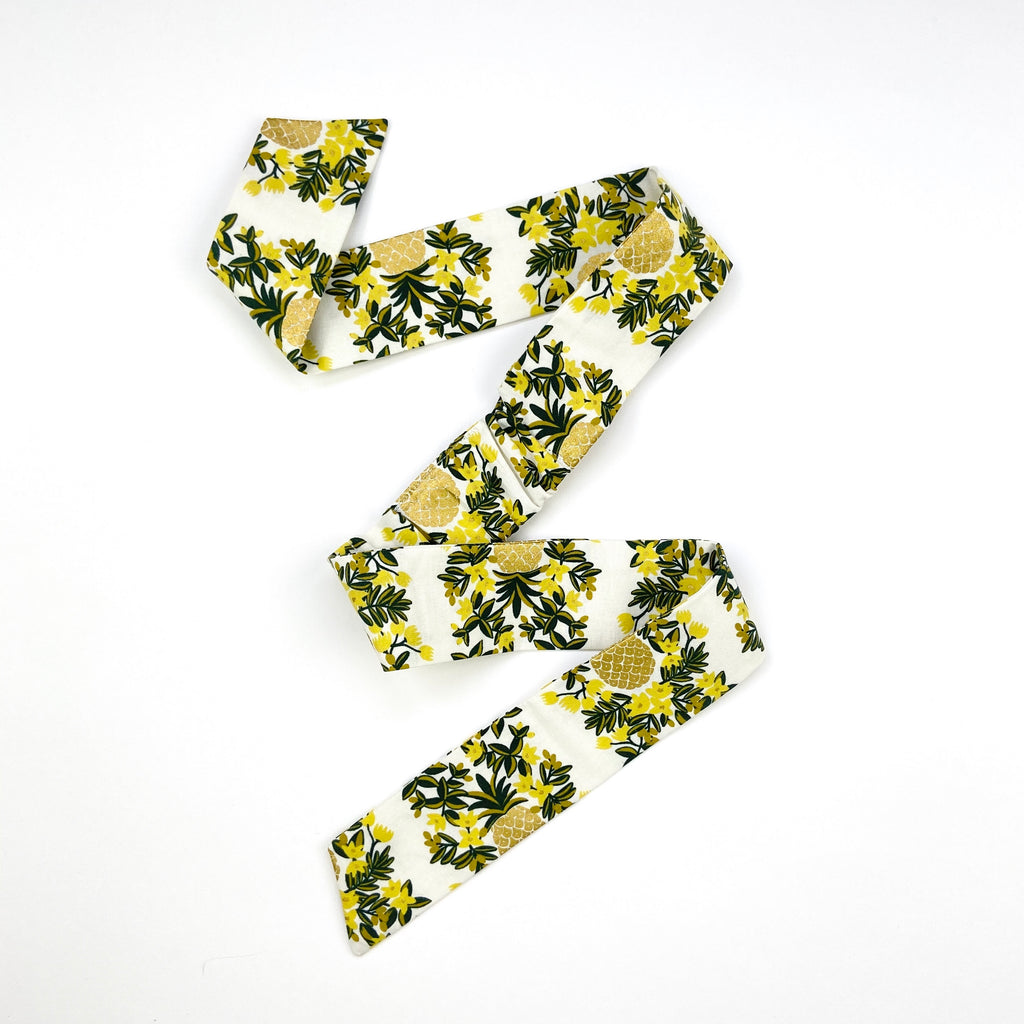 Pineapple Vines Large Bow Headband
