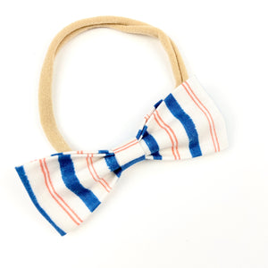Stripe Ruby Bow Headband
