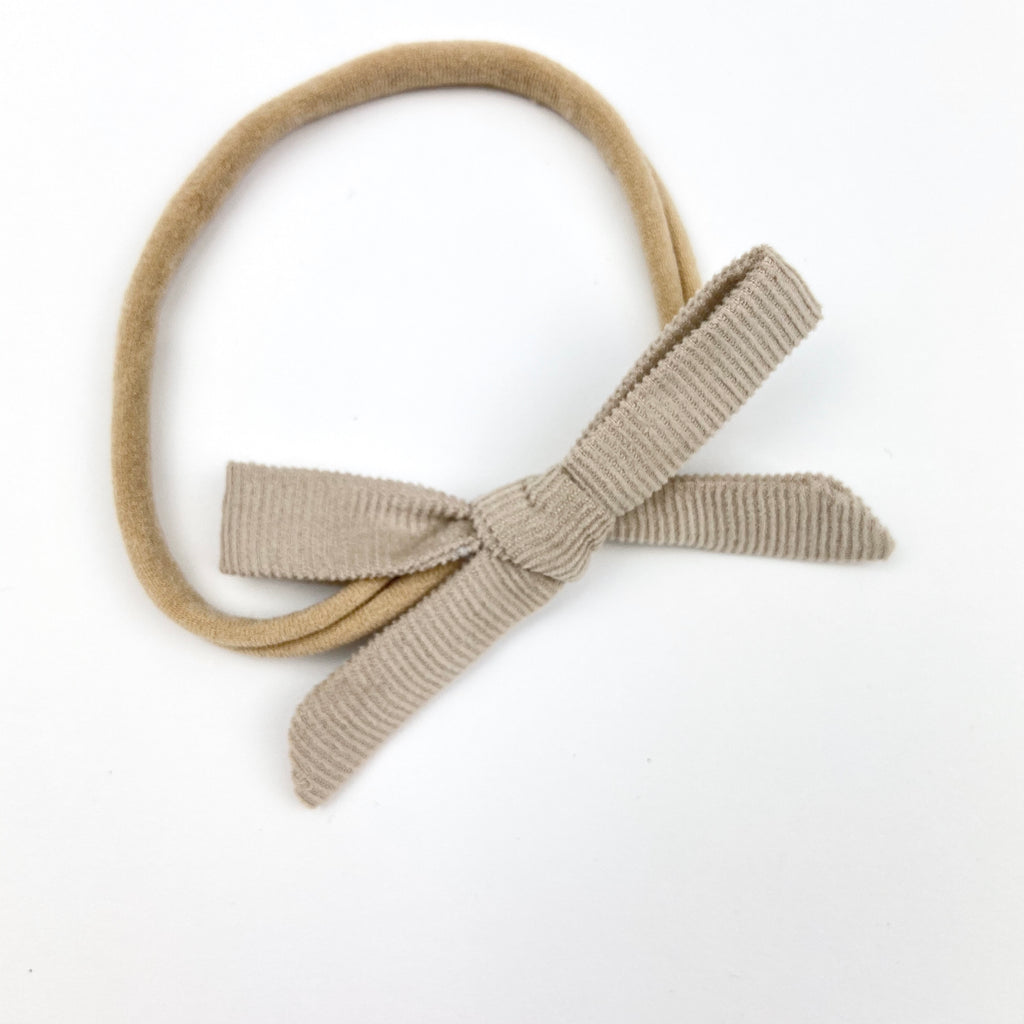 Fudge Velvet Cord Orla Bow Headband