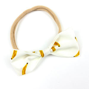 Banana Ruby Bow Headband