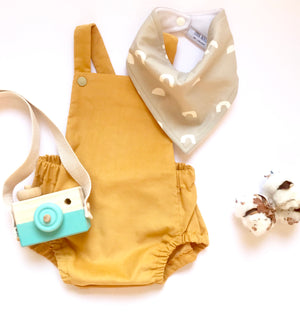 Honey Baby Needlecord Short Romper