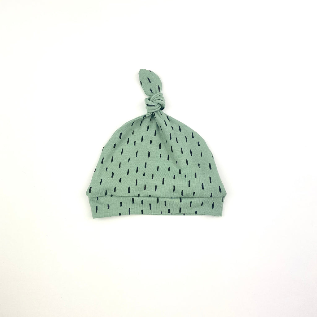 Green Dash Knotted Hat