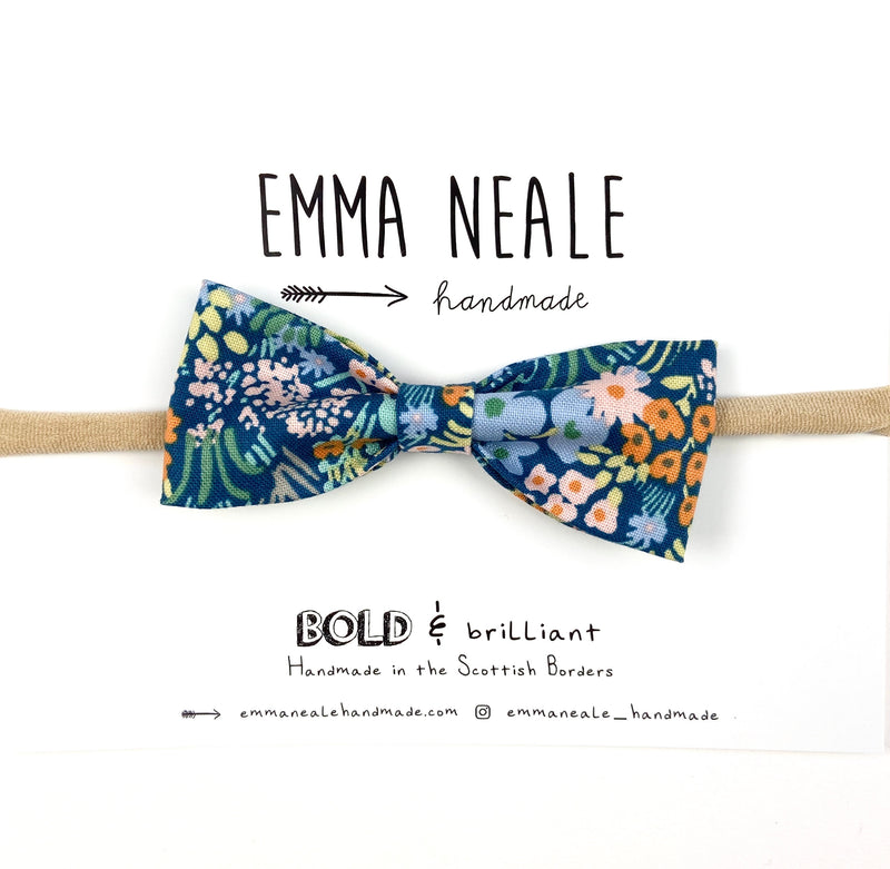 Blue Meadow Ruby Bow Headband