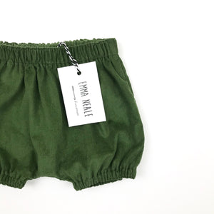 Olive Needlecord Bloomers