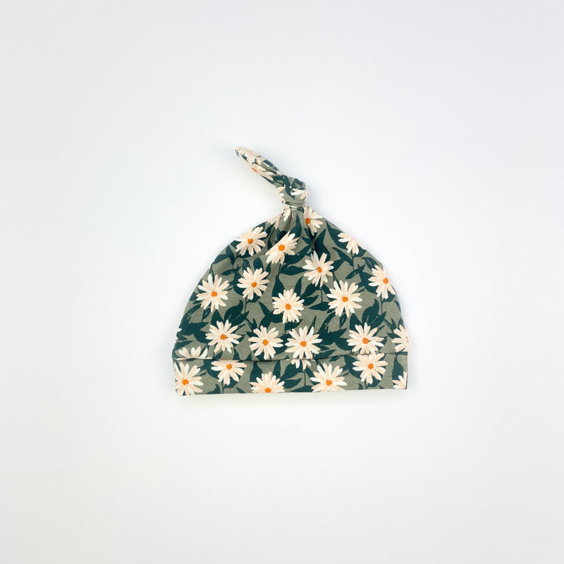 Pressed Flower Knotted Hat