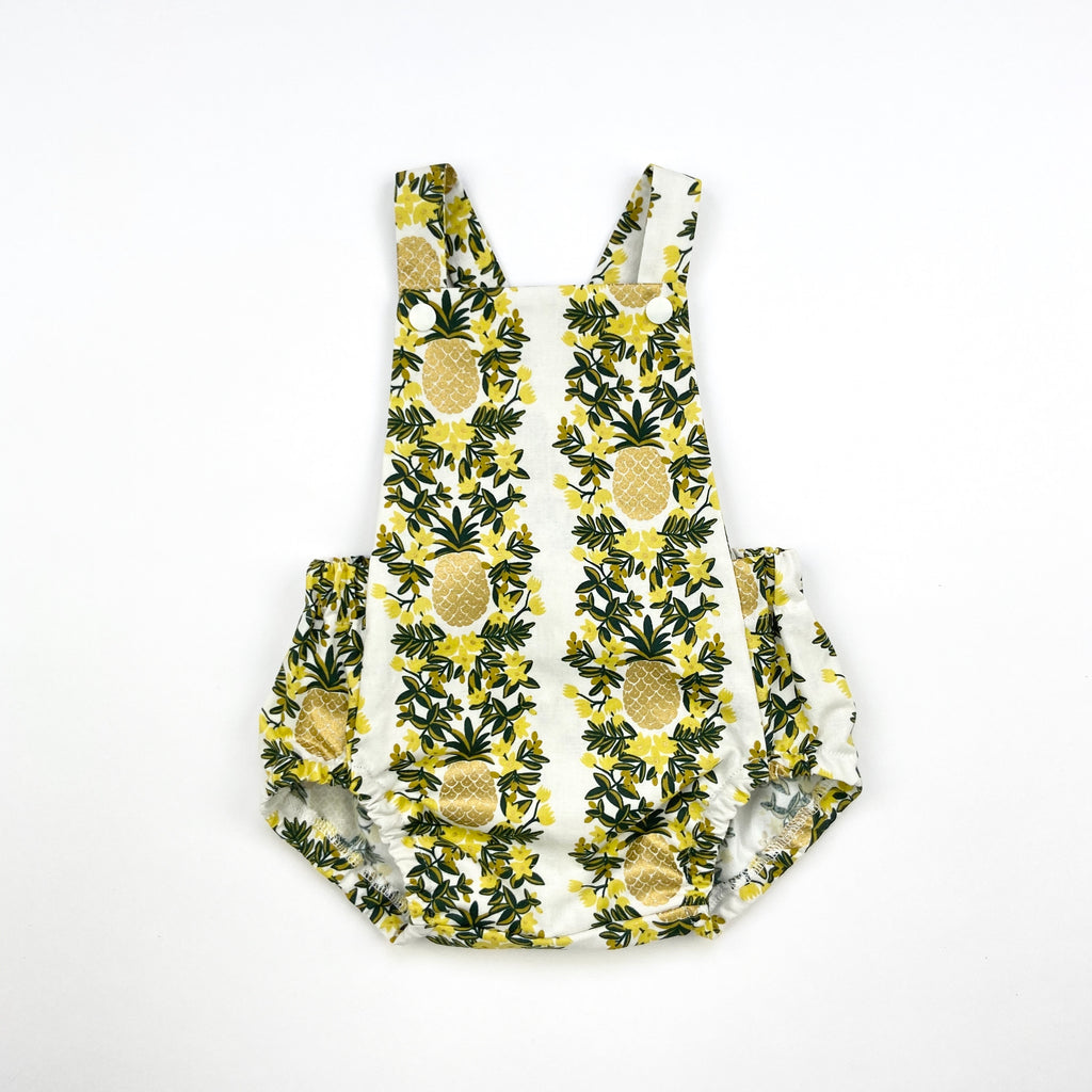 Pineapple Vines Short Romper