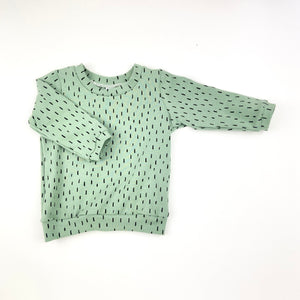 Green Dash Long Sleeve T-Shirt