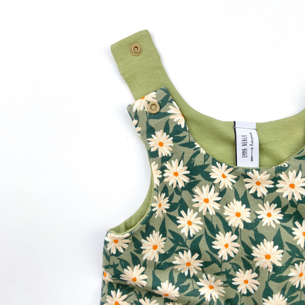 Pressed Flower Harem Romper