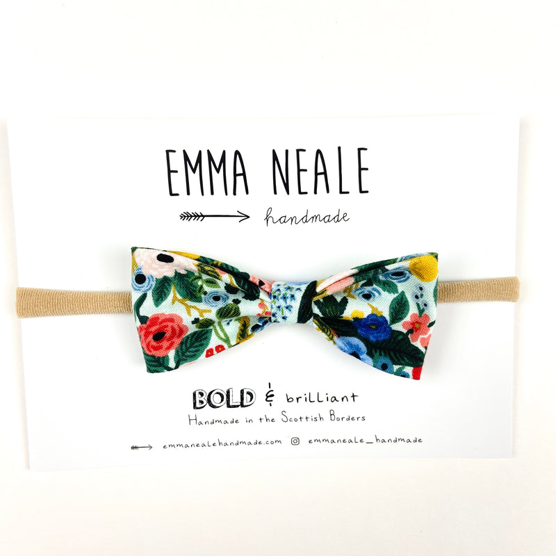 Garden Party Ruby Bow Headband