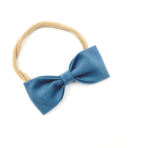 Blueberry Ruby Bow Headband