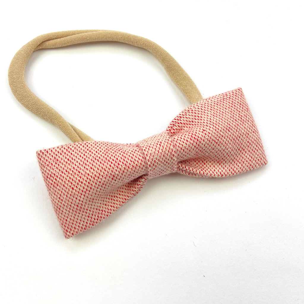 Strawberry Ruby Bow Headband