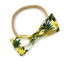 Pineapple Vines Ruby Bow Headband
