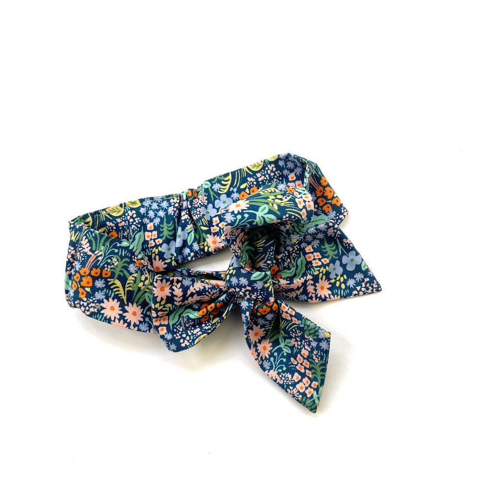 Blue Meadow Large Bow Headband