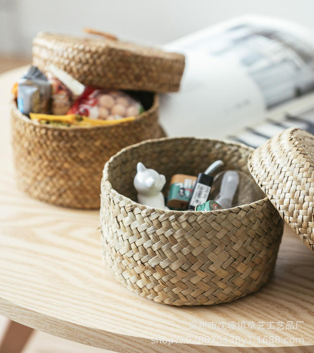Handmade Bamboo Storage Baskets