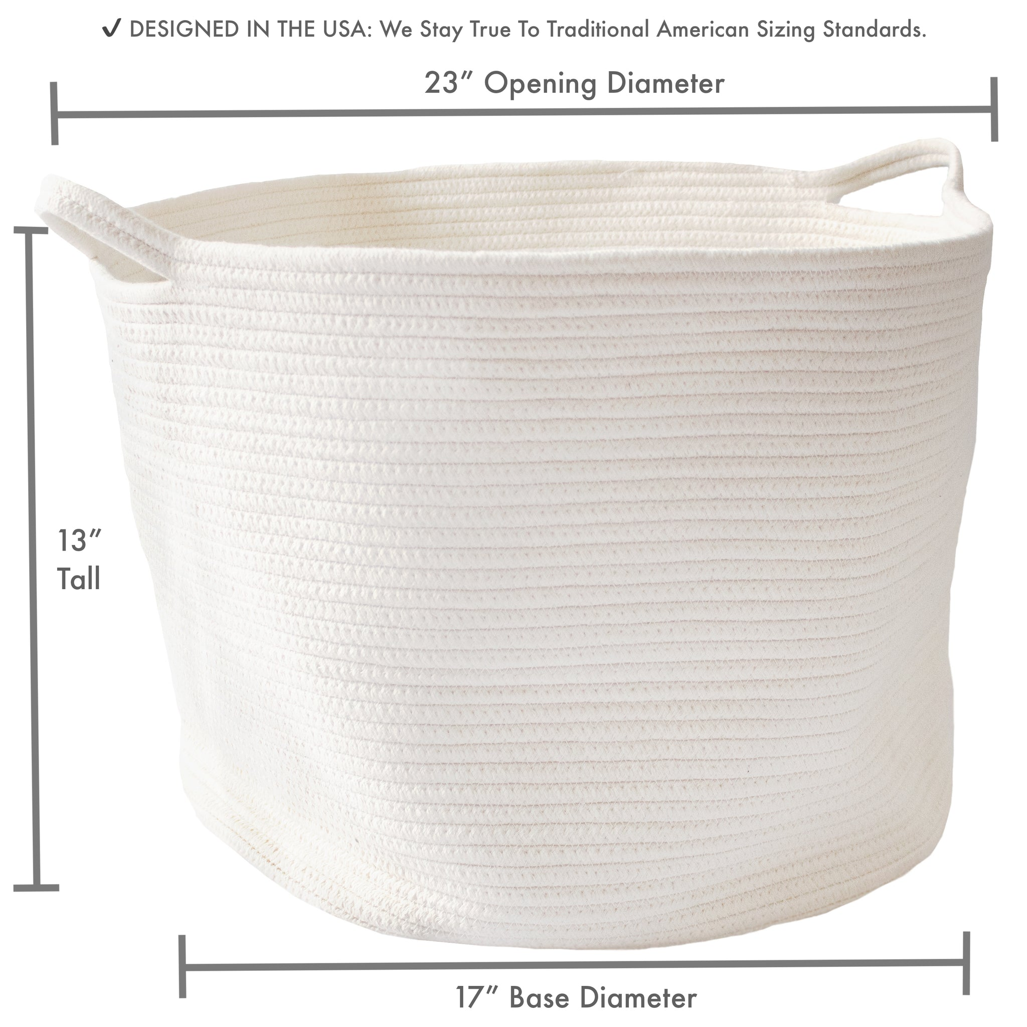 Load Image Into Gallery Viewer Rope Basket 23x13x17 Extra Large Laundry Baskets Blanket Basket Storage