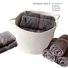 Load image into Gallery viewer, Rope Basket 23x13x17 Extra Large Laundry Baskets Blanket Basket Storage Blankets by iRGONOMICo™
