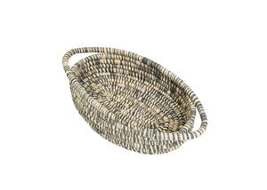 Carbon Heathered Oval Basket