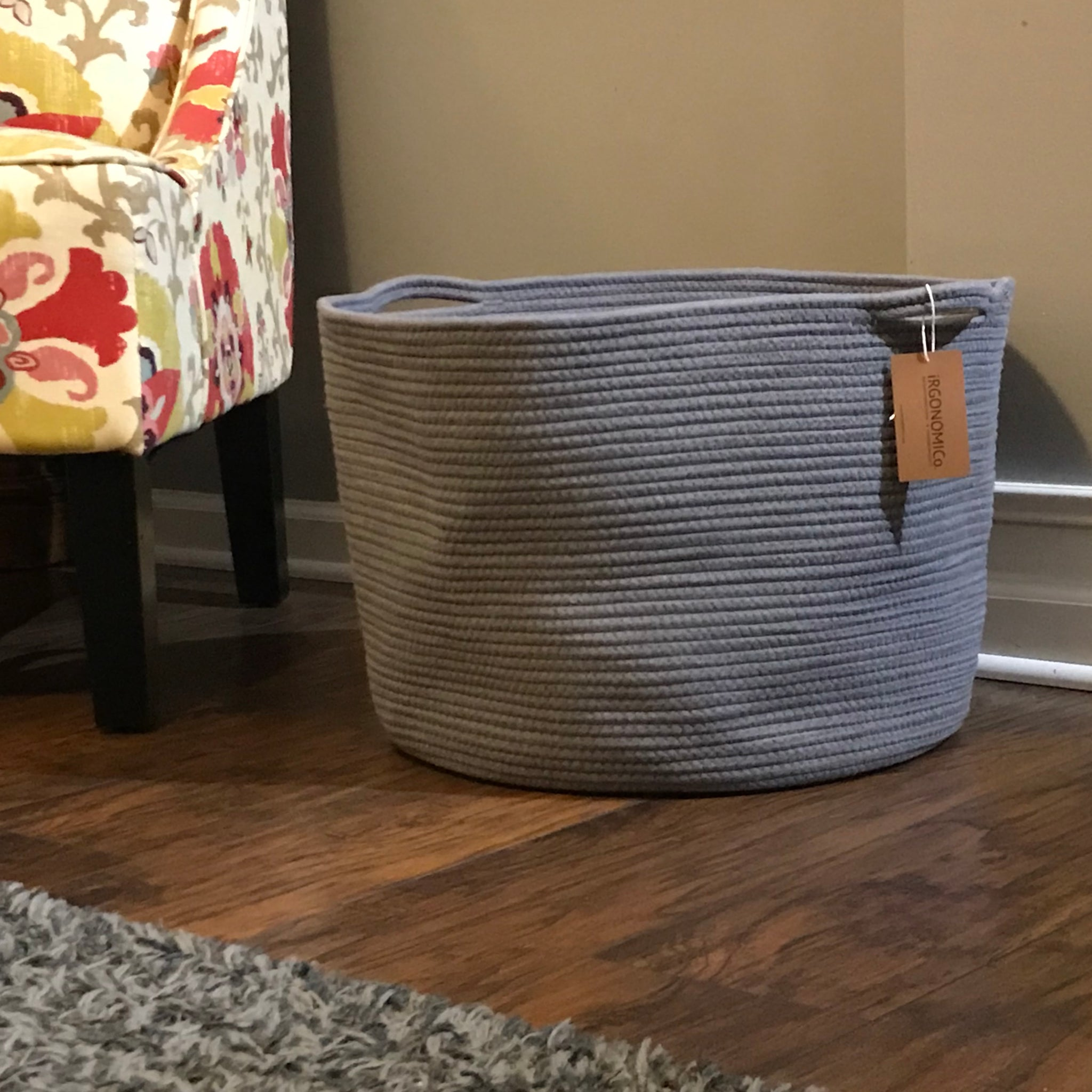 6e59c20b0089 ... Load image into Gallery viewer, Extra Large Grey Cotton Rope Storage  Baskets ...
