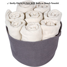 Load image into Gallery viewer, Extra Large Grey Cotton Rope Storage Baskets